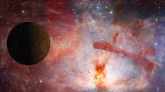 Planets Nebula Galaxy Stock Footage