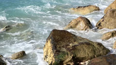 Rock on the sea 1 Stock Footage