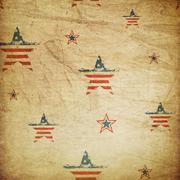 American patriotic ornament Stock Illustration