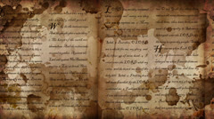 WORD Scroll Ink Splats Stock Footage