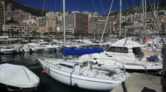 Yachts on the sea 1 Stock Footage