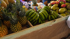 Agriculture crop food vegatable fruit fair market 2 Stock Footage