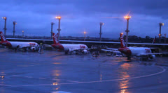 Airport - commercial aircraft. Airfield. Guarulhos Airport, Sao Paulo  12 - stock footage
