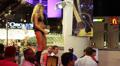 Dancer on Bar at Freemont Street Experience, Las Vegas HD Footage