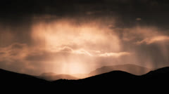 Sunset rain cloud time lapse Stock Footage