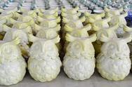 Stock Photo of variety of owl ceramic pots