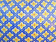 seamless traditional mosaic pattern - stock photo