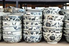 Stack of ceramic bowl Stock Photos