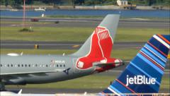 Boston Red Sox Airplane colors Stock Footage