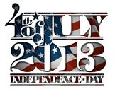Forth of july 2013 independence day cut-out Stock Illustration