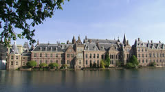 Binnenhof exterior complex of 13th century buildings, centre of Dutch politics Stock Footage