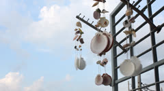 Hanging Seashells mobile show case Footage - stock footage