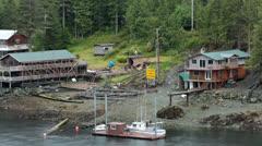 Logging camp inside passage Ketchikan Alaska HD 7673 Stock Footage
