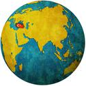 Stock Illustration of turkey on globe map