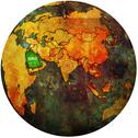 Stock Illustration of saudi arabia on globe map