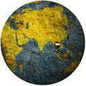 Stock Illustration of thailand on globe map