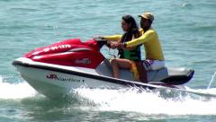 Jet Skis, Watercraft, Seadoos, Water Sports, Fun - stock footage