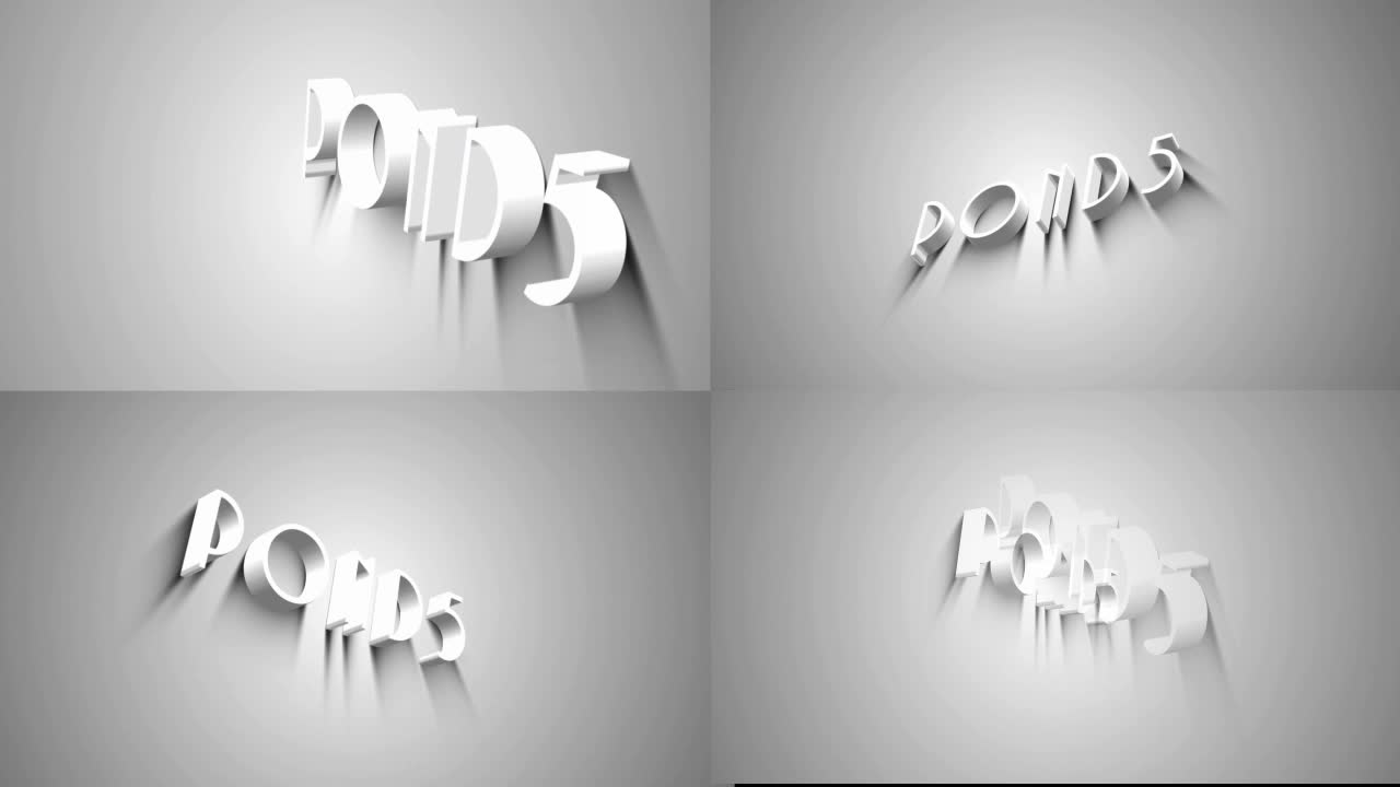 After Effects Project - Pond5 3D Text White 24806775