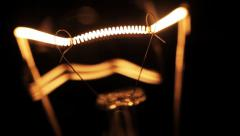 Incandescence thread, close up. Stock Footage