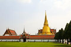 Wat phra kaew, temple of the emerald buddha, bangkok, thailand. Stock Photos