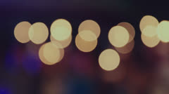 People in Background With Candles, Bokeh - stock footage
