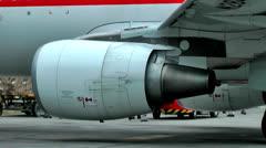 Jet Airplane Engines, Jet Turbines, Power Plants Stock Footage