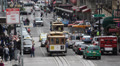 San Fran Tram Ride in a Trolley Cable Street Car, Powell Street Line, Crowded Footage