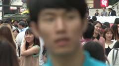 Seoul street Stock Footage