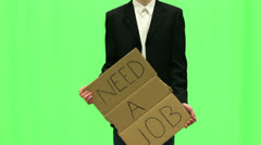 Need a Job Green - stock footage