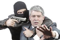 Businessman in danger Stock Photos