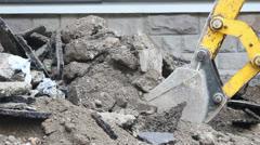 Excavator Demolishing Stock Footage