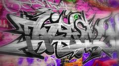 Graffiti urban art background Stock Footage