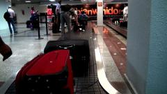 Baggage Claim, Luggage and Suitcases - stock footage