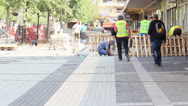 Stock Video Footage of Paving Close Up