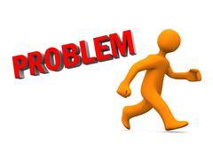 Problem run away Stock Illustration