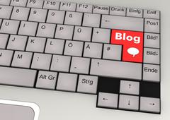 Keyboard blog Stock Illustration