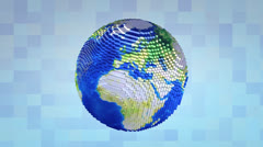 Voxelize earth, pixel, boxy, background. Stock Footage