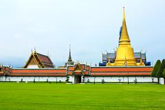Grand palace, the major tourism attraction in bangkok, thailand. Stock Photos