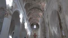Church interior restoration work Stock Footage