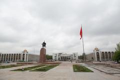 Manas Statue Epic Kyrgyz Hero Stock Photos