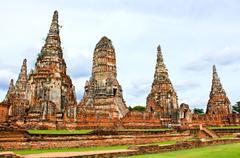Wat chaiwatthanaram temple. ayutthaya historical park Stock Photos