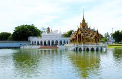 Bang pa-in palace in thailand. Stock Photos