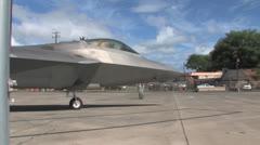 F22 Raptor return to flight Stock Footage