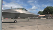 Stock Video Footage of F22 Raptor return to flight