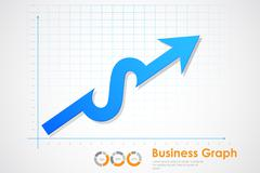 Business Profit Graph Stock Illustration