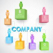 Stock Illustration of Business Structure