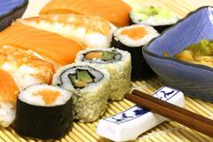 Sushi Meal Set Stock Photos