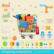Stock Illustration of Shopping Infographics