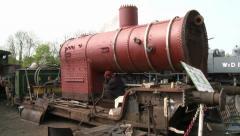 Vintage Steam Train Boiler Restoration Stock Footage