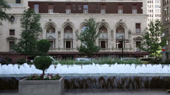 Adolphus hotel and bell plaza, downtown dallas, texas Stock Footage